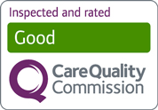 Celebrating Excellence: Inspected and rated Good by the Care Quality Commission.