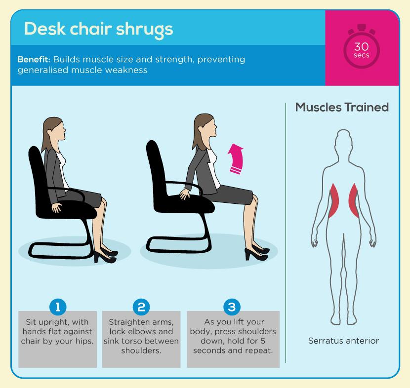 Desk Chair Shrugs