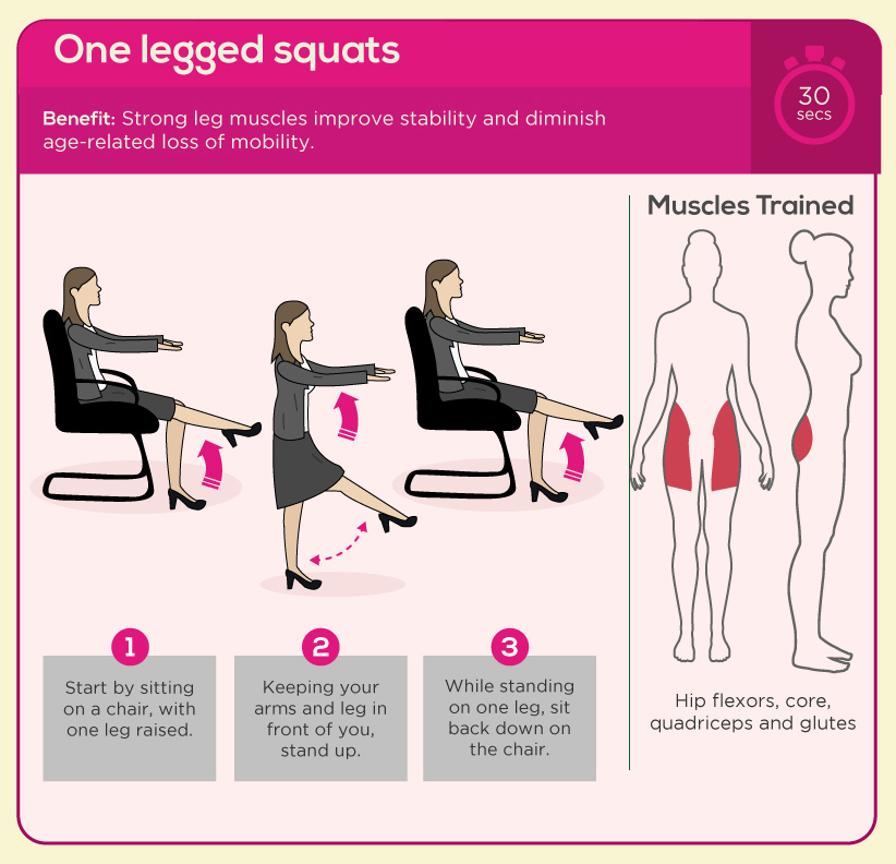 One-legged Squats