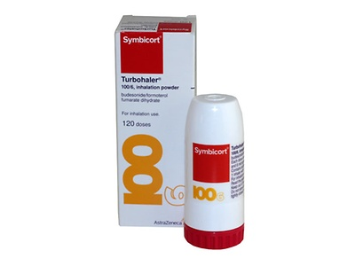 Budesonide 100mcg / Formoterol fumarate dihydrate 6mcg | from £56.95 per inhaler. Symbicort Turbohaler